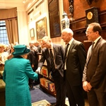The Queen was introduced to Past Presidents Chris King and Brian Trotter