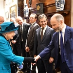 Her Majesty met Jeremy Sacher