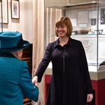The Queen was introduced to the Head of Collections, Nicola Davies